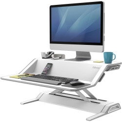 FELLOWES LOTUS SIT STAND Workstation White