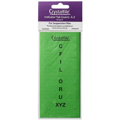 INDEX TABS A-Z INSERTS GREEN CRYSTALFILE