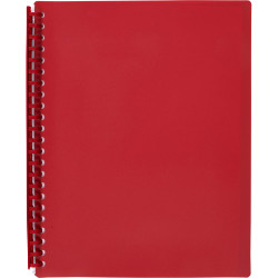 DISPLAY BOOK A4 RED MARBIG .