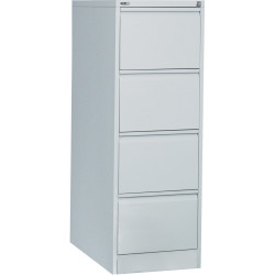 FILING CABINET 4 DRAWER GO S/G SILVER GREY